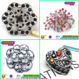 Latest China Fashion Wholesale Crystal Brooch Pin for Wedding Invitation