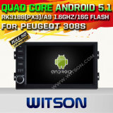 Witson Android 5.1 Car DVD GPS for Peugeot 308s with Chipset 1080P 16g ROM WiFi 3G Internet DVR Support (A5560)