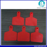 Red Color 75*60mm Ear Tag with Customized Printing