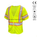 High Visibility Asni Class 3 Breathable Zip Mesh Safety Garment