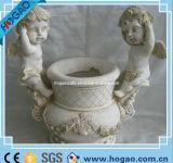 Antique Resin White Angel Flower Pot Garden Planter