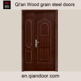 Black Walnut Veneer Steel Fire Door