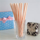 Color Polka Dots Paper Drinking Straws Paper Stick