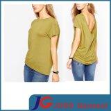 Crop Tee Shirt Top Blouse Designs for Women (JS9022)