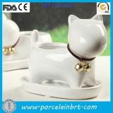 Lovely Cat Shape Table Ceramic Flower Planter Pot