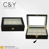 Custom 8 Slots Luxury Wooden Wrist Watch Storage Box Wholesale