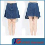 Ladies Blue A Line Denim Skirt (JC2082)
