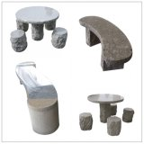 Cheap Granite Garden/Park/Plaza Stone Table and Bench/Chair for Outdoor Decoration