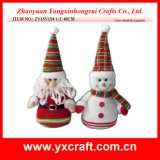 Christmas Decoration (ZY15Y154-1-2) Mr. Santa and Mr. Snowman
