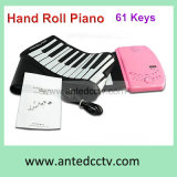 Flexible USB Hand Roll Piano with 61 Keys with Silicon Keyboard