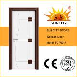 Front Exterior Veneered Solid Wood Door with Paint (SC-W047)