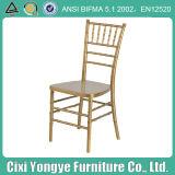 Gold Resin Tiffany Chiavari Chair in PC Material