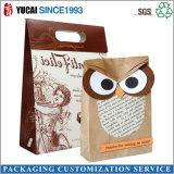 Customized Fashion Kraft Paper Bag Owl Paper Bag