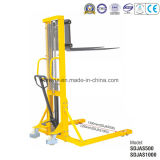 Manual Stacker with Adjustable Fork or Straddle Legs