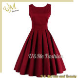 Plant Leisure Red Girls Dress in Clothing OEM Factory China