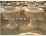 G682 Yellow Stone Granite Flower Pot