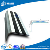 Easy Installed Curved Aluminum Profile Black Carborundum Stair Nosing
