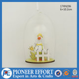 Glass Hanging Ornament with Duck Design for Easter