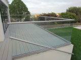 Aluminum U Base Shoe Frameless Balcony Glass Balustrade