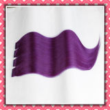 Premium Quality Tape Hair Silky 22inches Purple Color