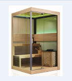 2-3 Person Type Single-Door Wooden Dry Sauna Room (M-6034)