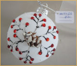 White Christmas Glass Crafts for Christmas Tree Decoration