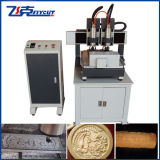 4 Axis Small Cylinder CNC Working Machine with 2 Spindles