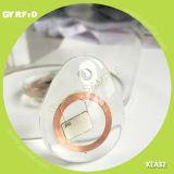 White Clear Crystal RFID NFC Keyfob for Access Control