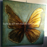 Butterfly Gold Foil Contemporary Decoration Painting (LH-252000)