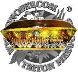 Classical Brocade Crown 130 Shots Fan Shape Cake Fireworks