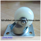 4 Inch White Nylon Wheel Caster
