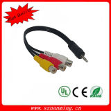 DC3.5mm to 3 RCA AV Cable for Camcorder