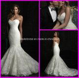 Lace Mermaid Wedding Gown Corset Custom Bridal Wedding Dress N1603