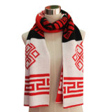 Fashion Lady Acrylic Jacquard Knitted Scarf (YKY4191)
