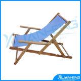 Blue Canvas 3-Position Reclining Beach Chair