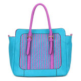 Turquoise Patchwork Leather Women Bag (MBNO034072)