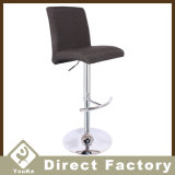 Comfortable Fabric Bar Chair with Back