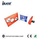 2018 New A5 Size 2.4 Inch LCD Screen Business Name Card with USB