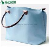 Foldaway Ladies Handbags Polyester Foldable Tote Bags Folding Beach Bag