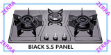 Three Burner Table Gas Stove with Tempered Glass Panel 750-A02