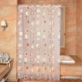 Circle Disign PEVA Waterproof Shower Curtain for Bathroom