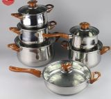 11PCS Stainless Steel Non-Stick Cookware Set (JL-0108)