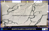 Artificial Calacatta Quartz Stone for Building Material/ Solid Surface/ Table Top/ Countertops