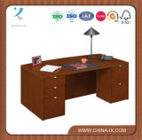 Bow Front Desk with Locked Drawers