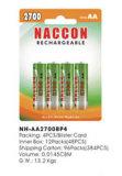 Naccon Ni-MH AA Rechargeable Battery