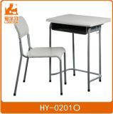 Classroom Student Metal Plastic Chair with ABS Desk Top