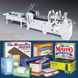Cardboard Box Gluer Folder Machine with Gluing One Point