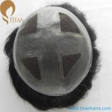 """7""""X9"""" V Loop Four Lace with Thin Skin Hair Toupee"""