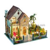 2017 New Miniature Model Wooden Kids Dollhouse DIY Toy
