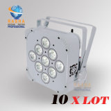 Cheaper Price China Stage Light Supplier of V9 6in1 Rgbaw UV Rechargeable LED Slim PAR Projector Disco Club